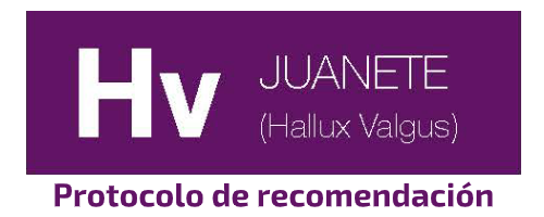Hv Protocolo de recomendación Juanetes